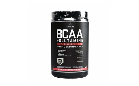 Sascha Fitness BCAA Pre, Intra and Post-Workout, Watermelon Flavor,350g