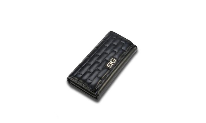 Faux Leather Brick Design Clutch