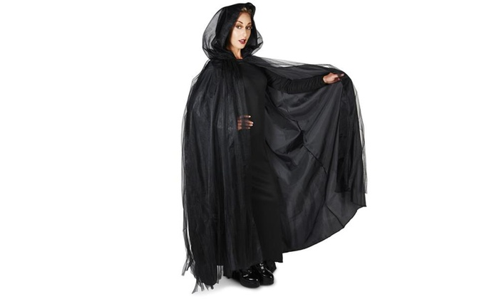 Black Mesh Adult Cape