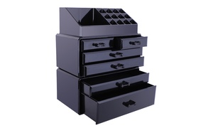Acrylic Cosmetic Organizer Makeup Case Holder Drawers Jewelry Storage  at Wmart, plus 6.0% Cash Back from Ebates.