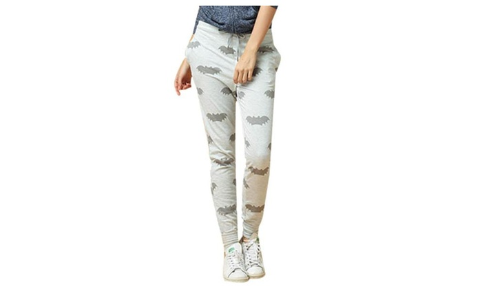 Women's Casual Graphic ZipUpwithButtonClosure Trousers