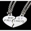 Heart Pendant Pieces Broken Two Best Friend Friendship Necklace