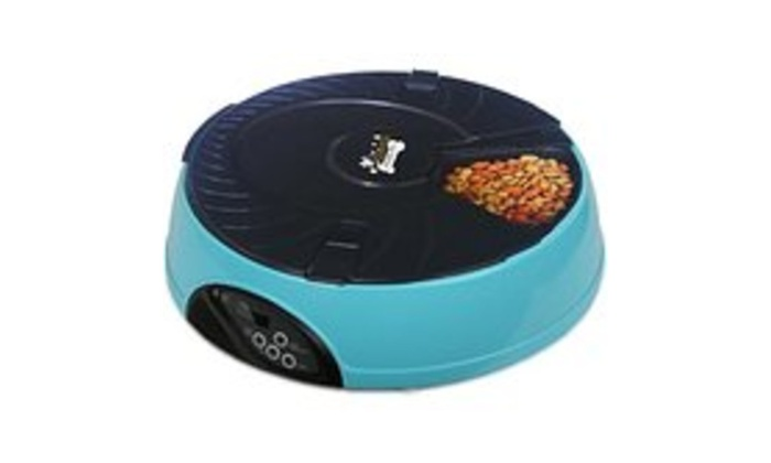 Qpets 6 Meal Automatic Pet Feeder Groupon