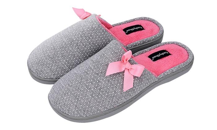 5431c62e9ec KushyShoo Women Slip-On Memory Foam Insole House Slippers