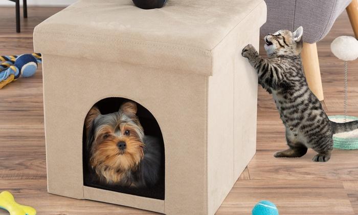Excellent Up To 40 Off On Ottoman Pet Bed By Petmaker Groupon Goods Inzonedesignstudio Interior Chair Design Inzonedesignstudiocom