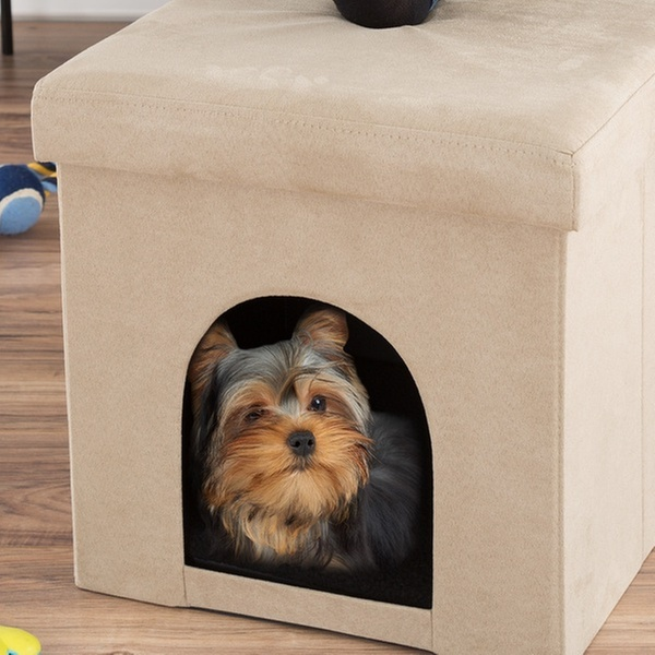 Awesome Pet House Ottoman Collapsible Cat Or Small Dog Bed By Petmaker Inzonedesignstudio Interior Chair Design Inzonedesignstudiocom