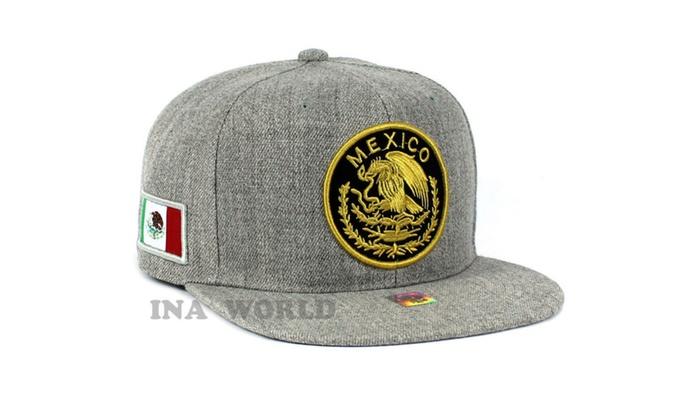 4bab95a5820 MEXICAN Hat Federal Logo Embroidered Baseball Cap Flat Bill