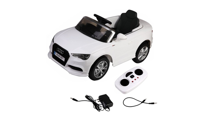 75529846e1db 12V Audi A3 Licensed RC Kids Ride On Car Electric Remote Control LED Light  Music