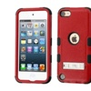 Insten Hard Coated Silicone Case W Stand For Ipod Touch 5 6 Red Black