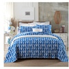 100% Cotton Blue Chain Style Printing 3 Pieces Bedding Set King Size