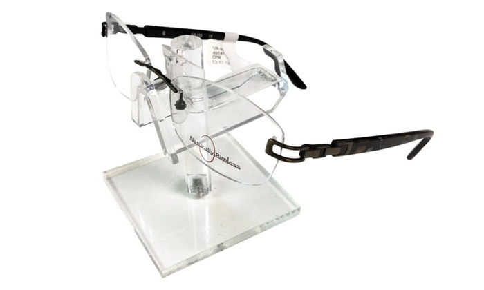 Naturally Rimless Eyeglasses Rimless Prescription Frames | Groupon