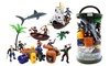 Bucket of Pirate Action Figures Playset