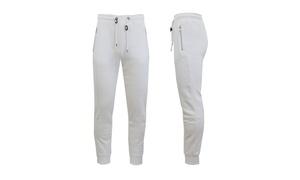 Mens Fleece Jogger Sweatpants With Zipper Pockets