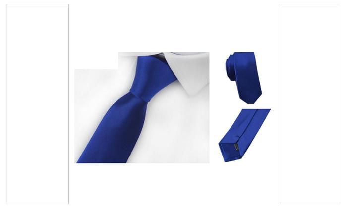 Slim Narrow 5cm Casual Arrow Skinny Tie For Men