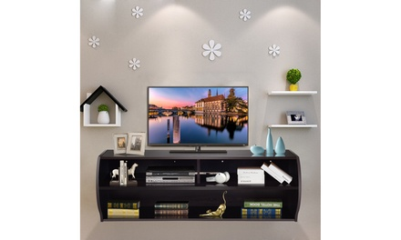 "48.5"" Wall Mounted Audio/Video TV Stands Console Living Room Furniture W/Shelves"