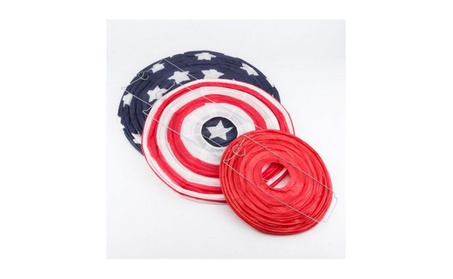 4th of July Red, White and Blue Round Paper Lanterns 09eb5171-4150-4f8c-b561-d5c4df6cf4c9