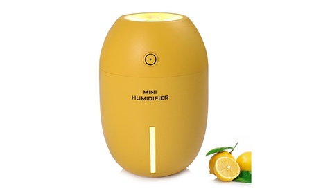 180ML Lemon Shape Humidifier Car Air Diffuser Purifier w/ Night Light e1ec62a5-8502-4892-9260-952b3ca7f432