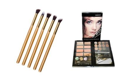 Concealer & Eyebrow Duo Makeup Kit With 10Pc Makeup Brushes Set ba763f49-e2d8-4dba-bf76-4d5c108ef903