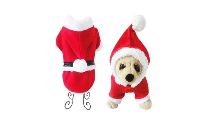 new pet dog christmas clothes outwear apparel puppy dog santa claus