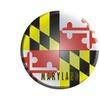 Smart Blonde Maryland State Flag Metal Circular Sign C-119