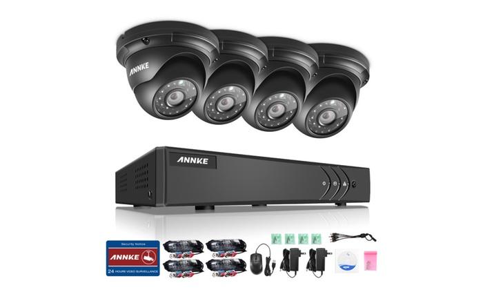 ANNKE 1080P 8CH  System Video Surveillance DVR 4PCS 960P 1.3MP Camera