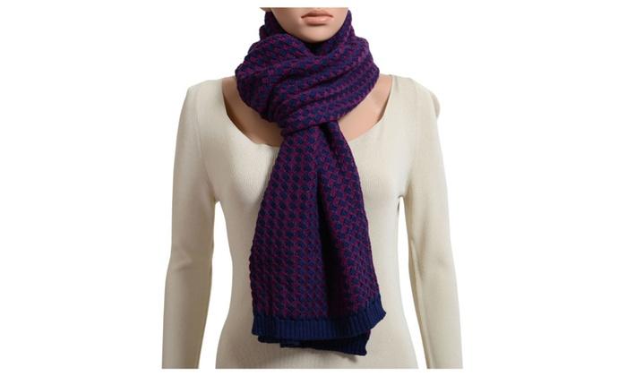 Just Cavalli Unisex 100% Wool Multi-Color Long Scarf