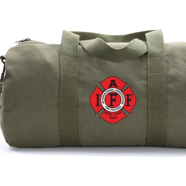IAFF International Association of Fire Fighters Heavyweight Canvas Duffel Bag