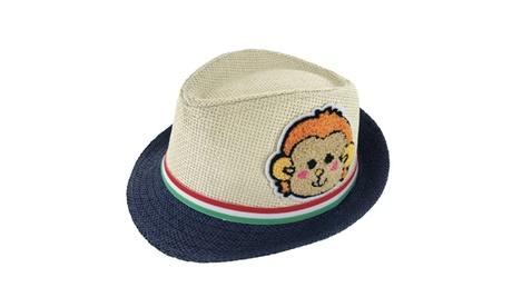 Faddism Kids Unisex Slim Belt Cuban Brim Fedora Hat Model 02 4181b57e-e088-4e5b-9bab-1536a6d3c2da
