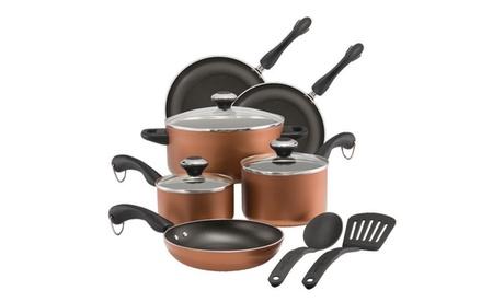 Paula Deen Dishwasher Safe Nonstick Cookware Set, 11-Piece, Copper fc3f6c5e-be24-4d62-96ba-035dc8a8ea26