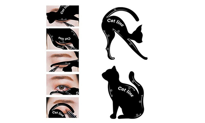 Up To 46% Off on Cat Eyeliner Template Applicator | Groupon Goods