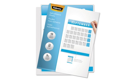 Fellowes Mfg. Co. Self Laminating Sheets, 3mil, 12 X 9 1/4, 50/Box ee3c31c5-7bec-4f99-853a-2194fbadf2cd
