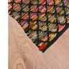 Closeout Discount : LR Home Harlequin Black / Multi Trellis Accent Rug