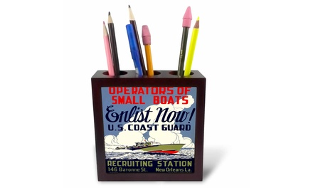 Tile Pen Holder - US Coast Guard Operators of Small Boats Enlist Now Recruiting