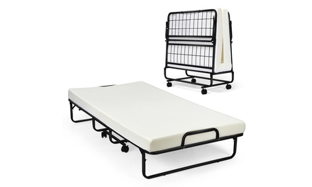 Costway Foldable Bed Daybed W/ 4 inch Mattress Memory Foam