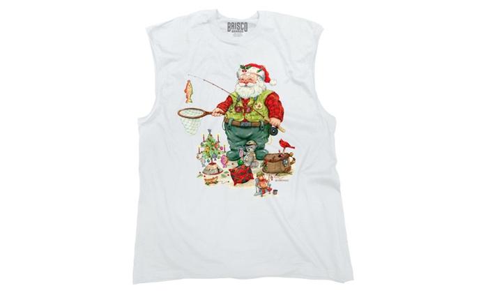 Fishing Santa With Toys Sleeveless T-Shirt
