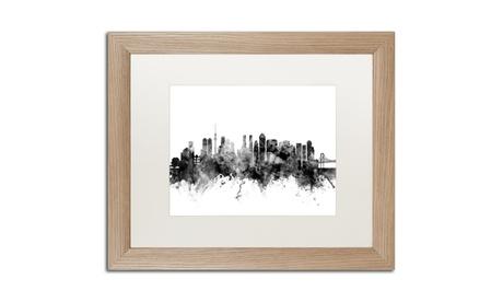 Michael Tompsett 'Tokyo Japan Skyline B' Birch Framed Art 649513a2-537d-4237-b953-1dddff24da26