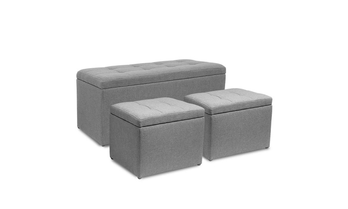 9848f8e99c54 Up To 23% Off on Rectangular Storage Ottoman B... | Groupon Goods