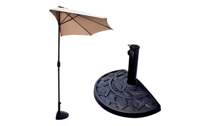 ... Dailyselections: Apontus Off The Wall 10 Feet Balcony Patio Half  Umbrella ...