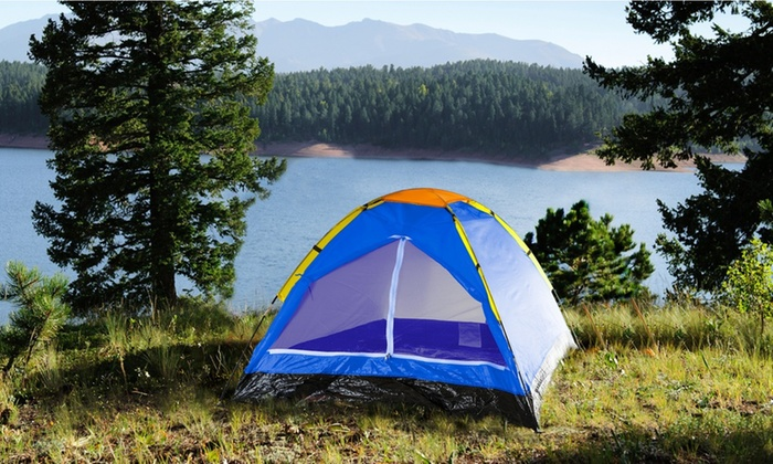 Wakeman Outdoors 2 Person Dome Tent For Camping With Carrying Bag
