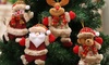 4pcs Christmas Tree Ornament Hanging Plush Doll Xmas Decor Santa Claus Snowman