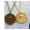 Pirates of the Caribbean Vintage Charm Alloy Coin Pendant Necklace