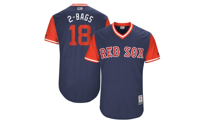 Mens Red Sox Mitch Moreland 2-Bags Navy