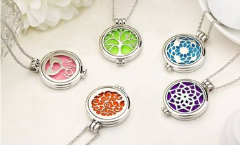 Essential Oil Diffuser Necklace with Optional Essential Oils