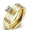 Aromatic Titanium Steel Double Ladies' Ring