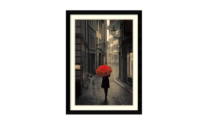 Up To 2% Off on Framed Art Print \'Red Rain\' b... | Groupon Goods
