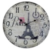 Decorative Vintage French Style Eiffel Tower Wooden Clock