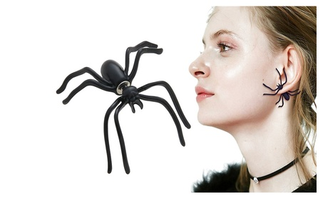 1 Pair Unisex Punk Halloween Black Spider Ear Stud Earrings For Party 1bdc11fa-6387-49f7-b44d-1ebfc763849a