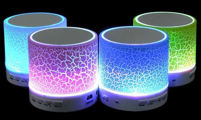 LAX Gadgets Portable Wireless Bluetooth LED Speaker With Disco - Childrens disco lights bedroom