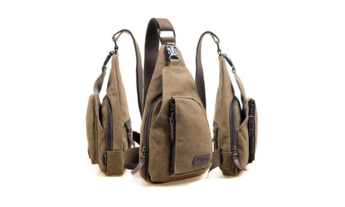 Men's Canvas Satchel Military Bag Cross Body Handbag