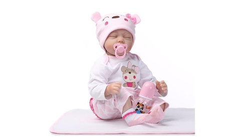 "22""Realistic Reborn Baby Doll Silicone Vinyl Handmade Sleeping Girl 0318f38b-9536-4bfc-a366-d530a3c2e334"